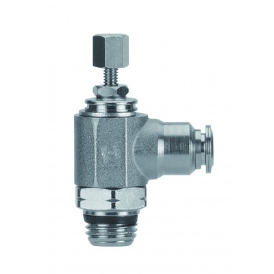 Right Angle Flow Control Nickel Plated Brass 89958 04 02