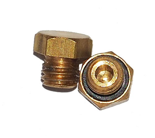 Miniature Hex Head Plug Brass 10 O Plug