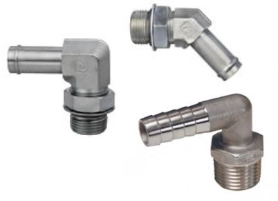 Steel elbow hose barb fittings are used often in conjunction with hose cl& pneumatic fittings to secure hoses to hydraulic components and pneumatic ...  sc 1 st  Universal Power Conversion & Steel Elbow Hose Barb - Hydraulic Fitting