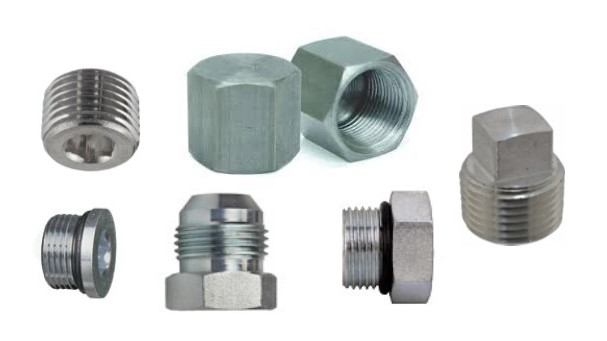 Plugs caps hydraulic fittings