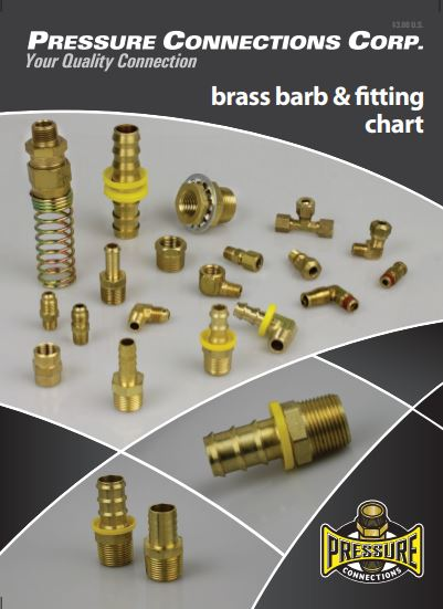 Pressure Connections Brass Barbs and Fittings Chart Cover Image