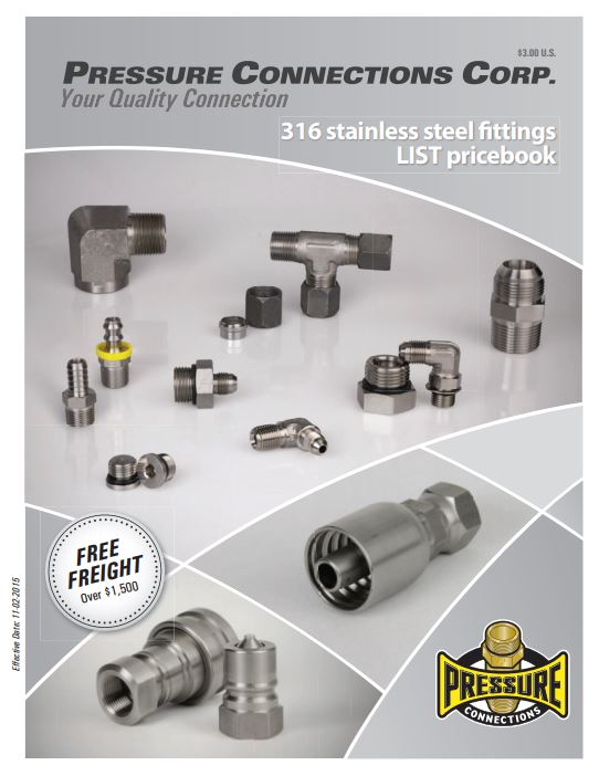 Pressure Connections Stainless Steel Catalog Cover Image